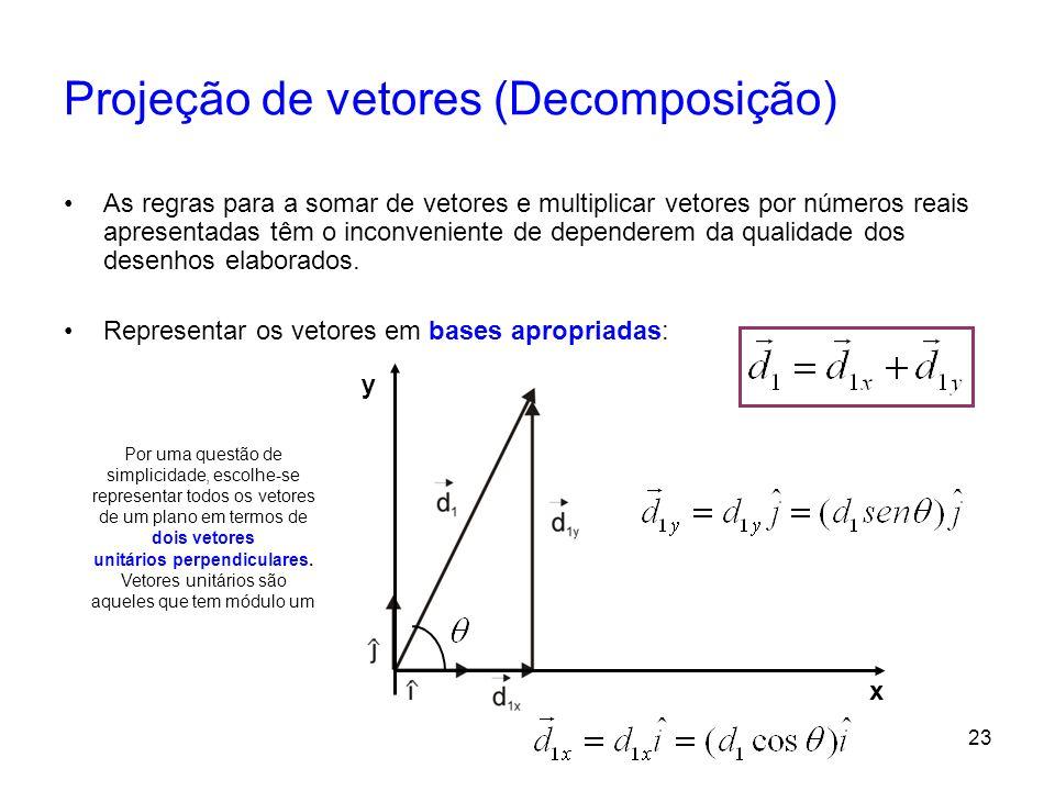 Projeção de vetores (Decomposição)