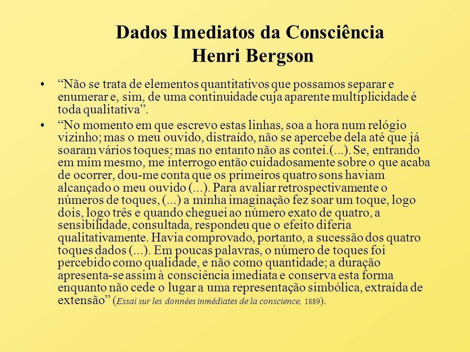 Dados Imediatos da Consciência Henri Bergson
