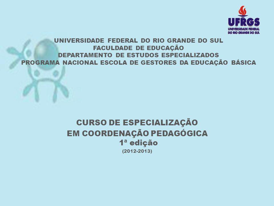 CURSO DE ESPECIALIZAÇÃO EM COORDENAÇÃO PEDAGÓGICA 1ª edição