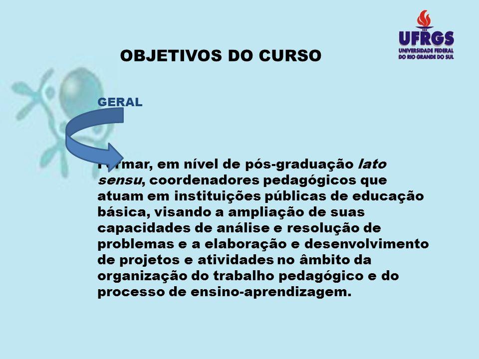OBJETIVOS DO CURSO GERAL.