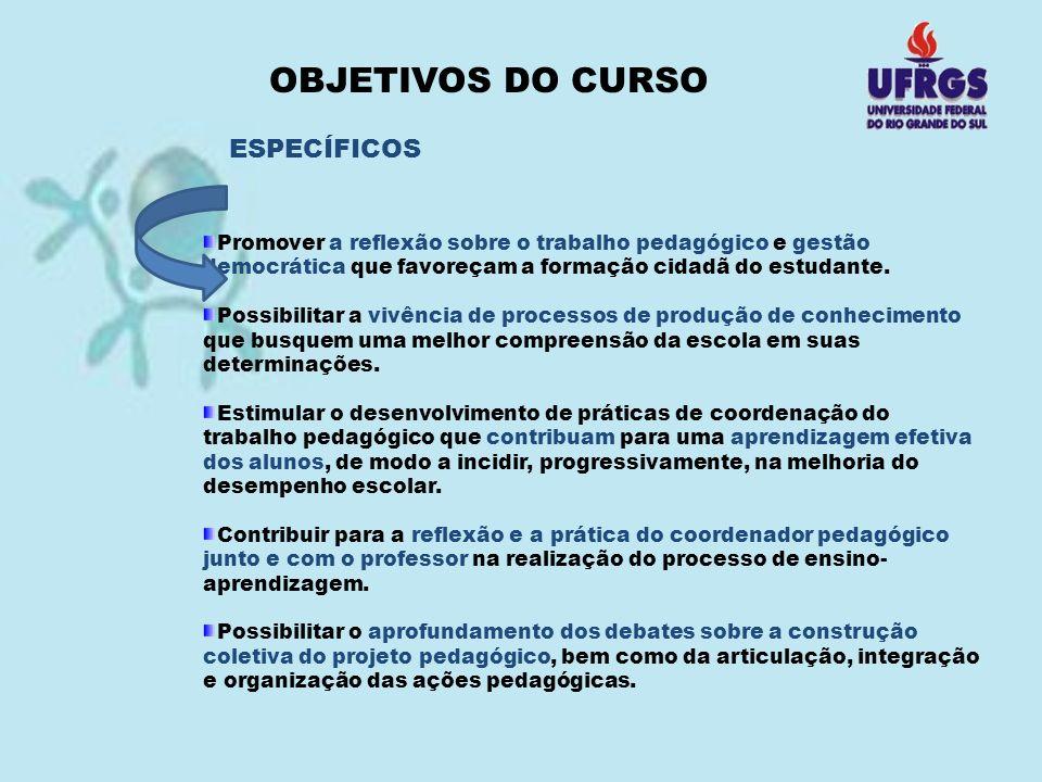 OBJETIVOS DO CURSO ESPECÍFICOS