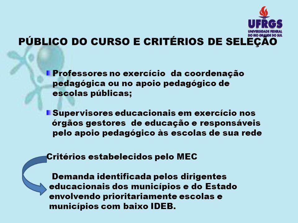 PÚBLICO DO CURSO E CRITÉRIOS DE SELEÇÃO