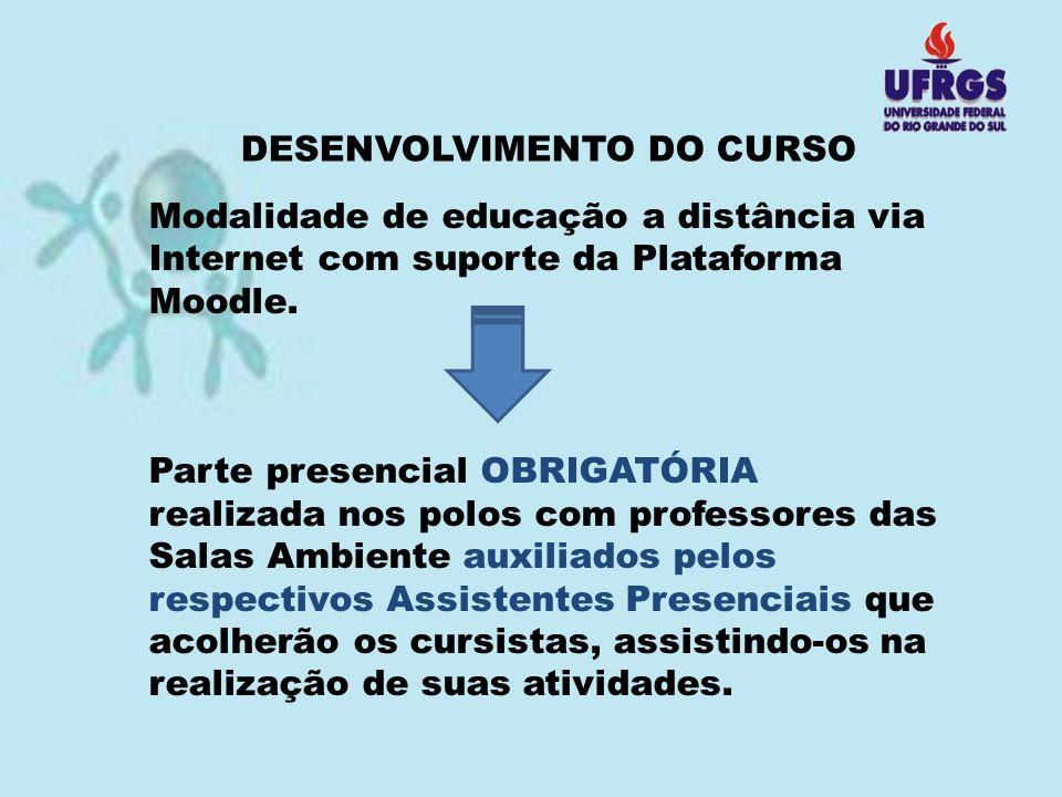 DESENVOLVIMENTO DO CURSO