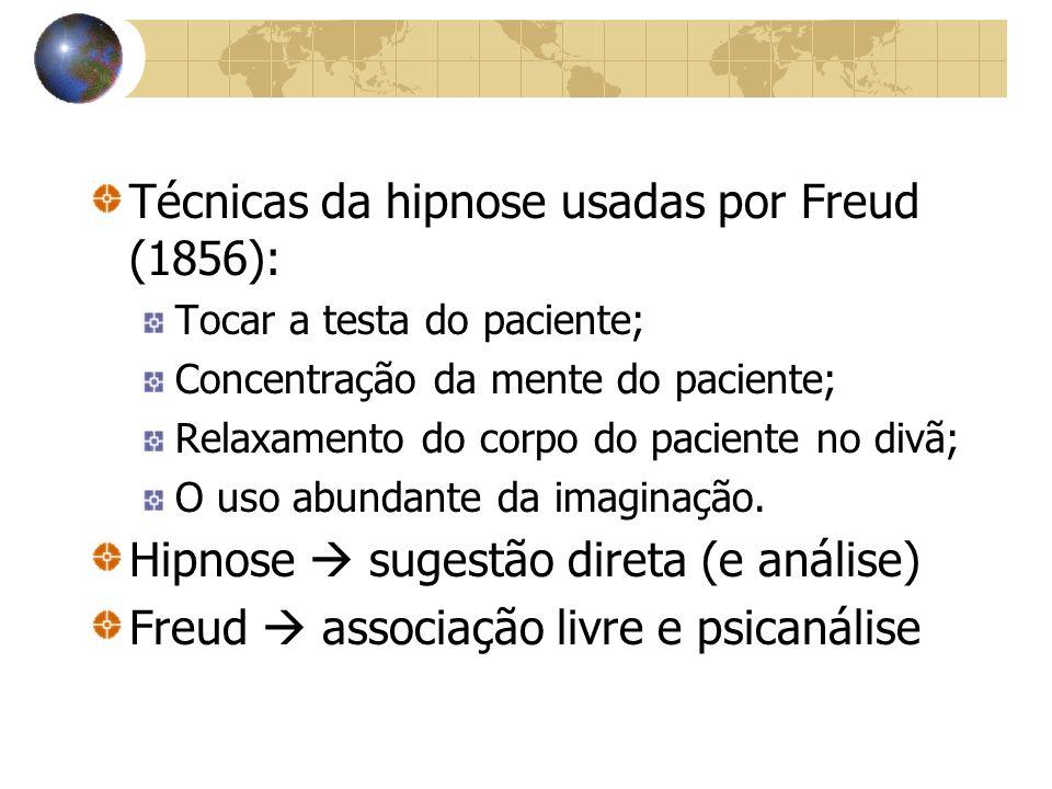 Técnicas da hipnose usadas por Freud (1856):