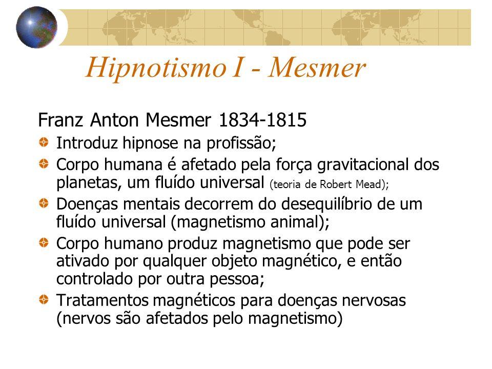 Hipnotismo I - Mesmer Franz Anton Mesmer 1834-1815