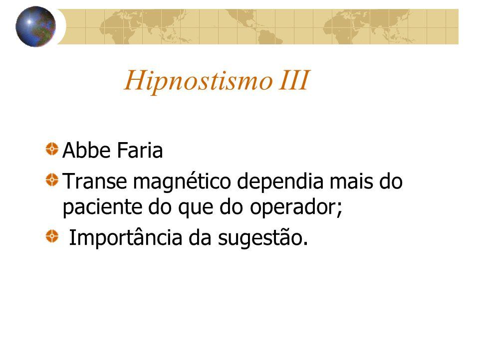 Hipnostismo III Abbe Faria