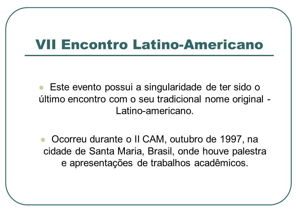 VII Encontro Latino-Americano