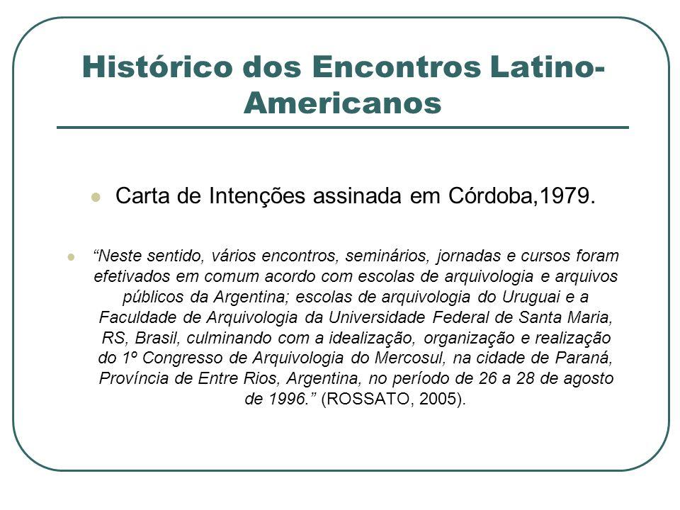 Histórico dos Encontros Latino-Americanos