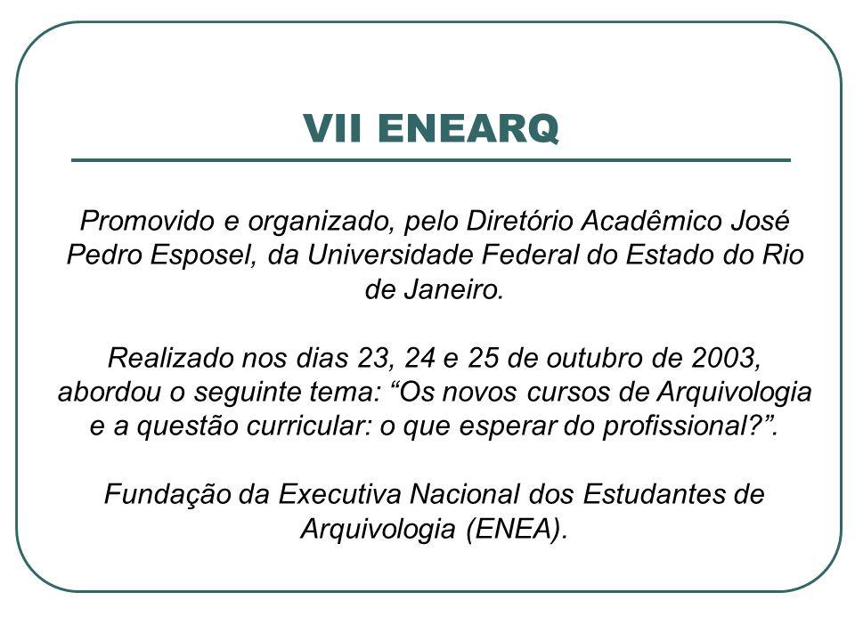Fundação da Executiva Nacional dos Estudantes de Arquivologia (ENEA).