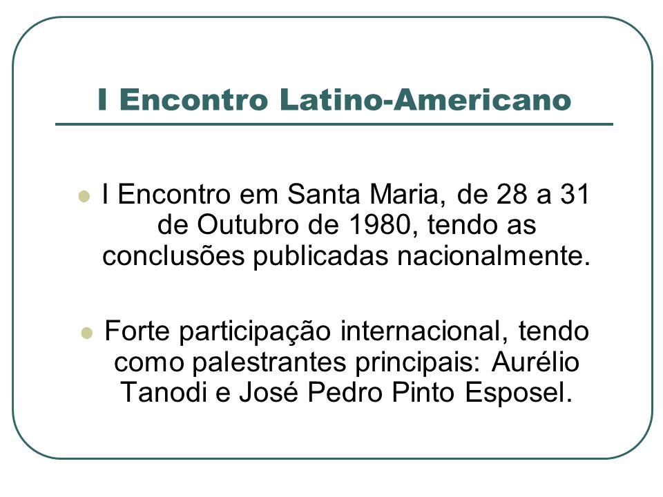 I Encontro Latino-Americano