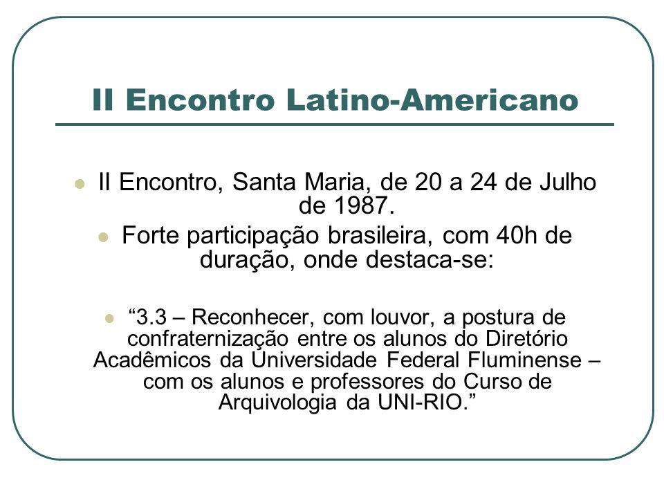II Encontro Latino-Americano