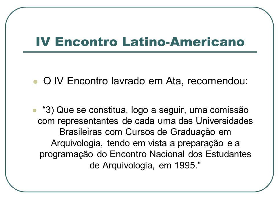 IV Encontro Latino-Americano