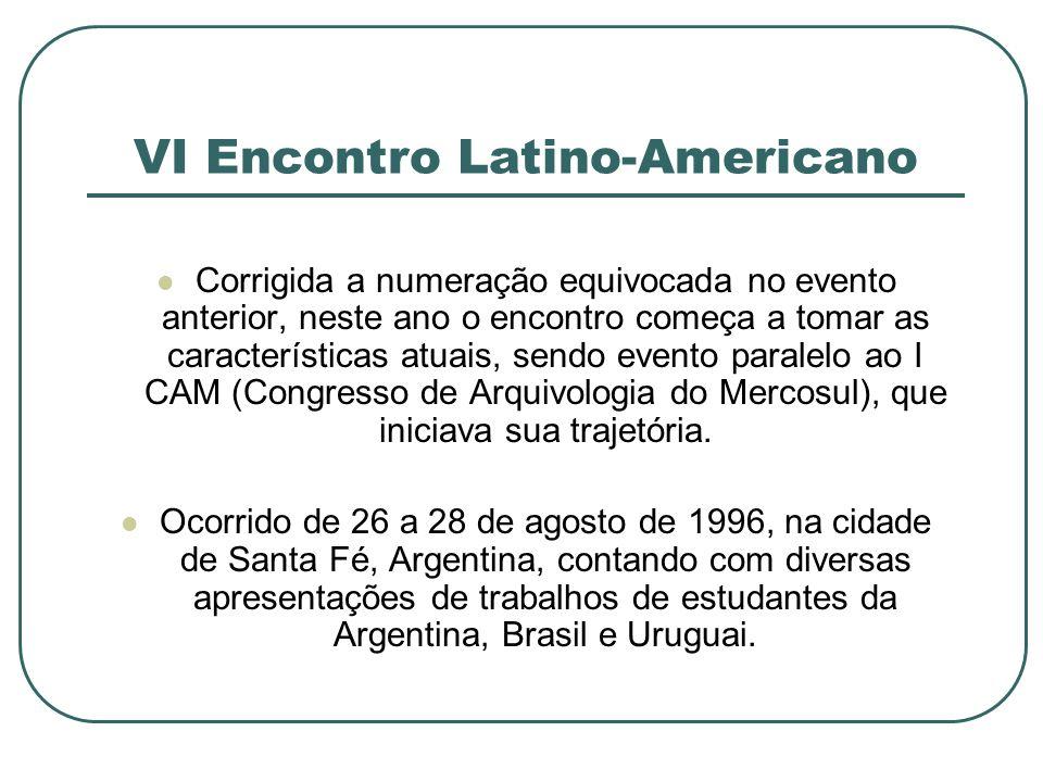 VI Encontro Latino-Americano