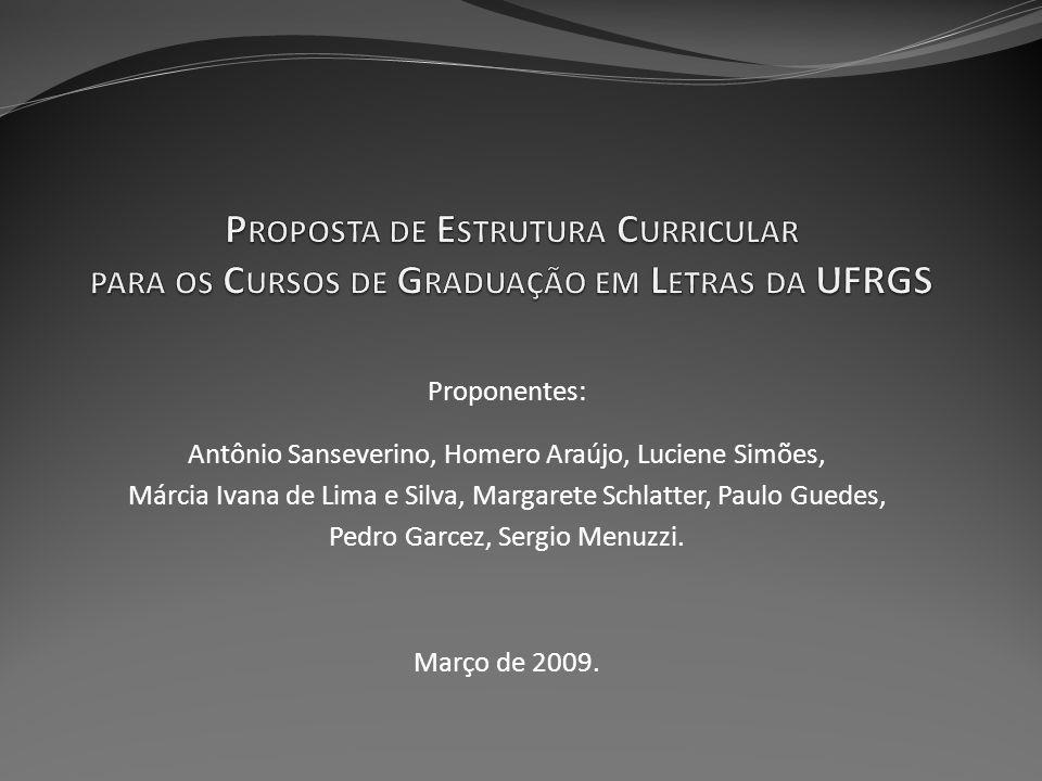 Proposta de Estrutura Curricular para os Cursos de Graduação em Letras da UFRGS