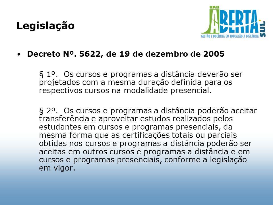 Legislação Decreto Nº. 5622, de 19 de dezembro de 2005
