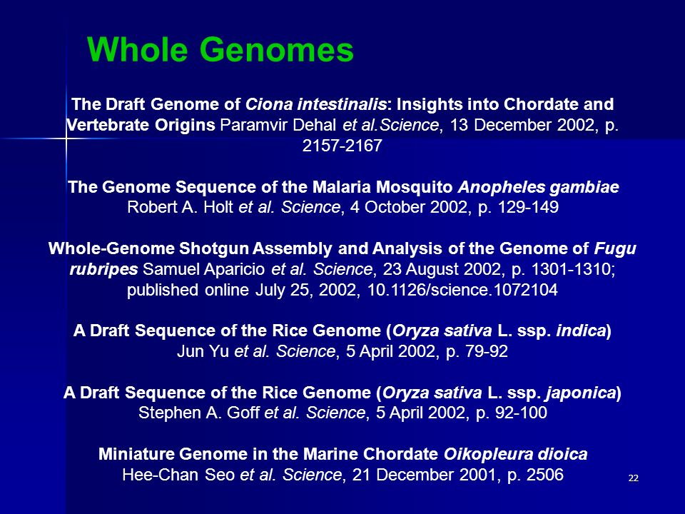 Whole Genomes