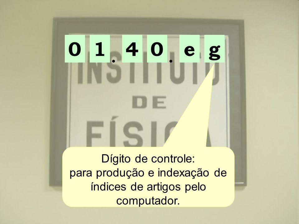 para produção e indexação de índices de artigos pelo computador.