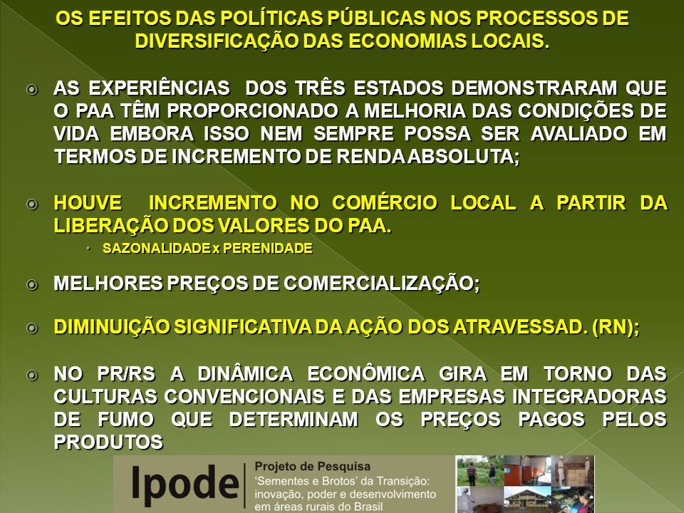 MELHORES PREÇOS DE COMERCIALIZAÇÃO;