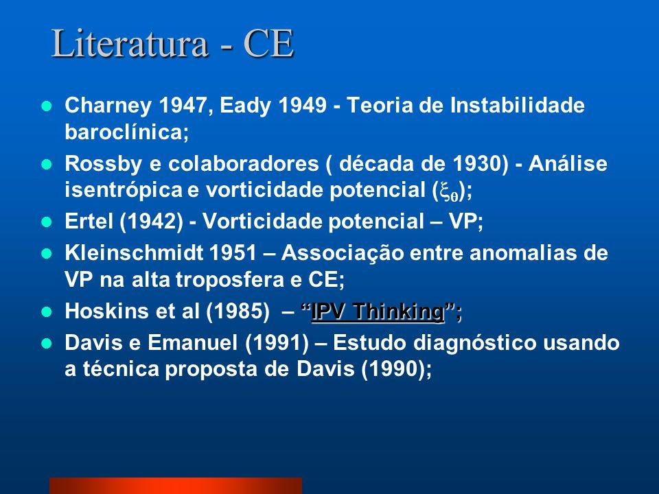 Literatura - CE Charney 1947, Eady 1949 - Teoria de Instabilidade baroclínica;