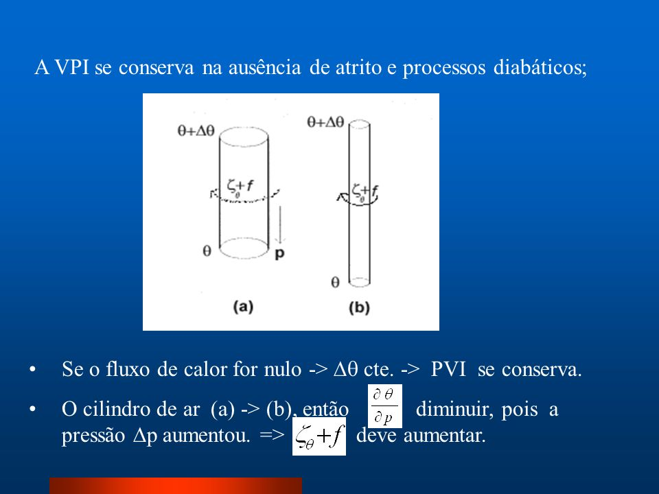 A VPI se conserva na ausência de atrito e processos diabáticos;