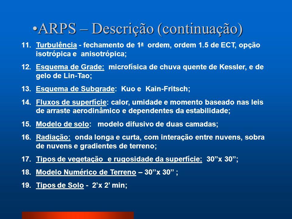 ARPS – Descrição (continuação)