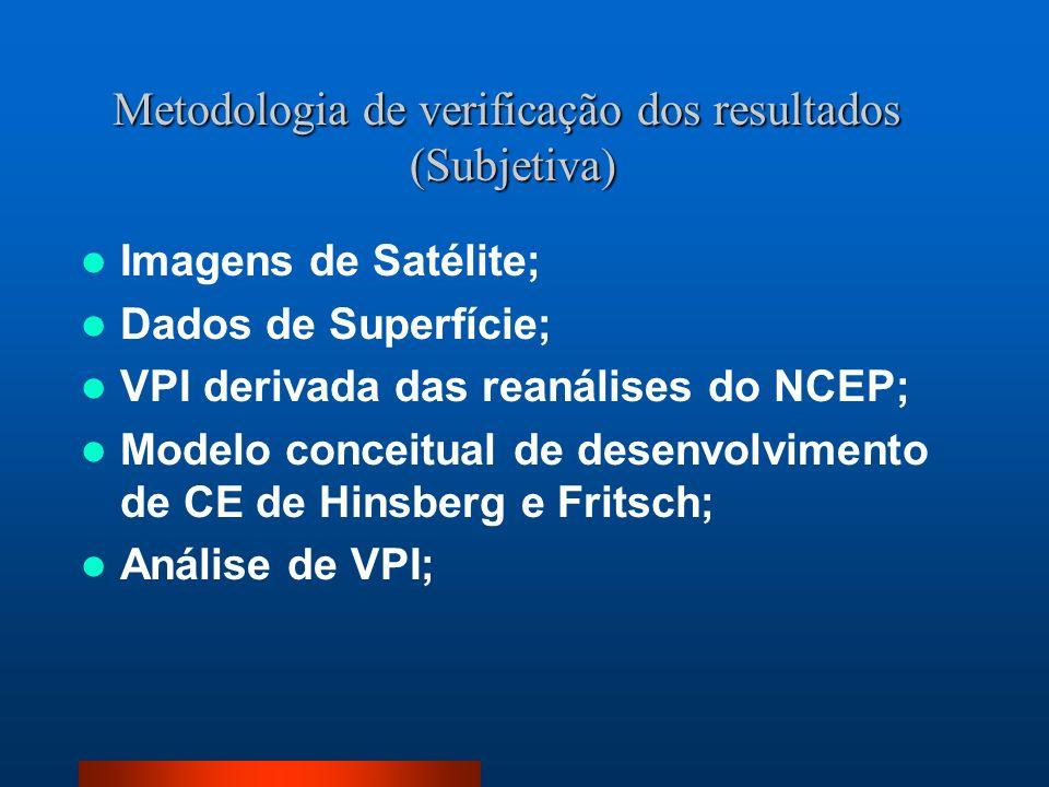 Metodologia de verificação dos resultados (Subjetiva)