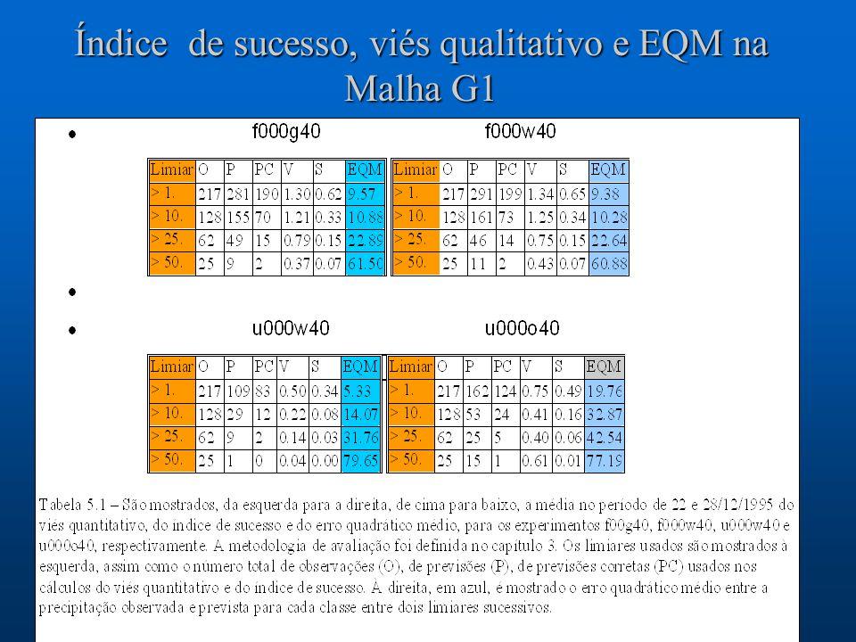 Índice de sucesso, viés qualitativo e EQM na Malha G1