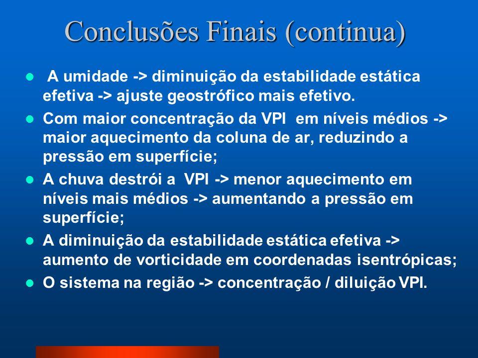 Conclusões Finais (continua)
