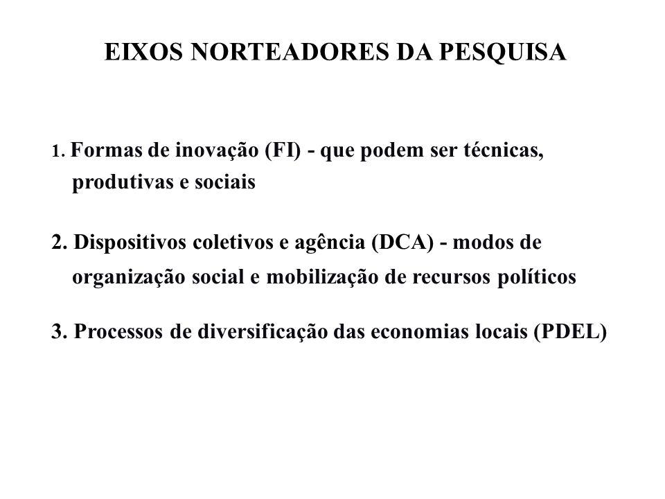 EIXOS NORTEADORES DA PESQUISA