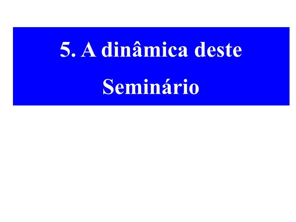 5. A dinâmica deste Seminário