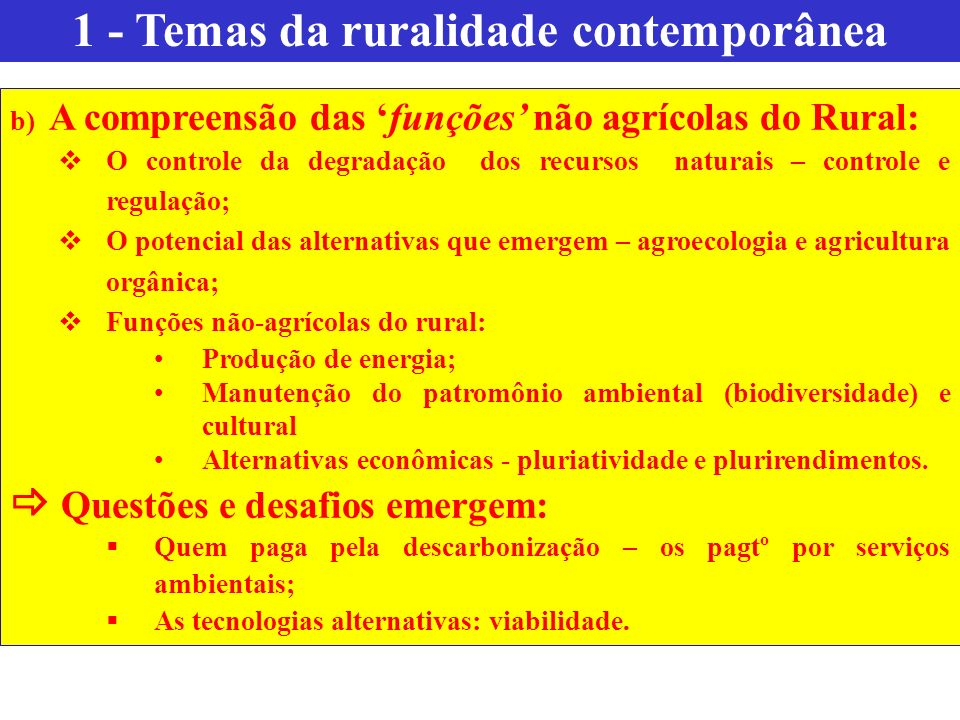 1 - Temas da ruralidade contemporânea