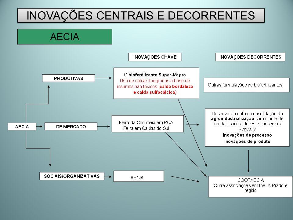 INOVAÇÕES CENTRAIS E DECORRENTES