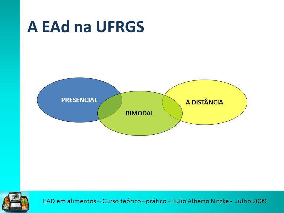 A EAd na UFRGS PRESENCIAL A DISTÂNCIA BIMODAL