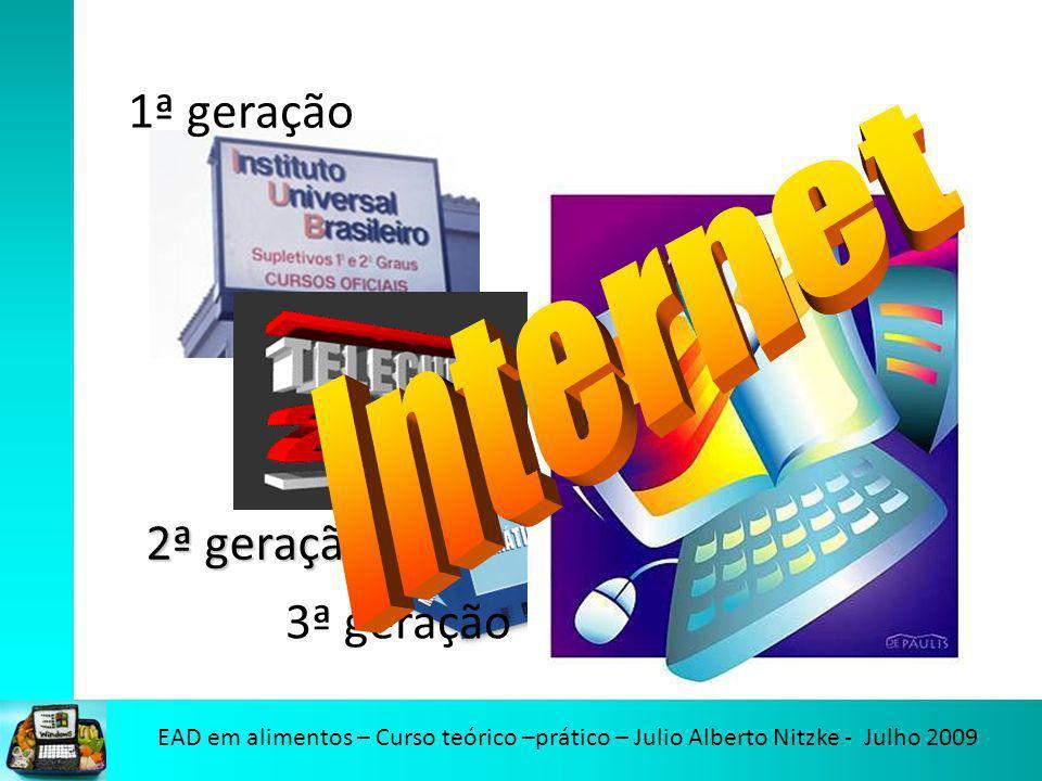 1ª geração 3ª geração Internet 2ª geração