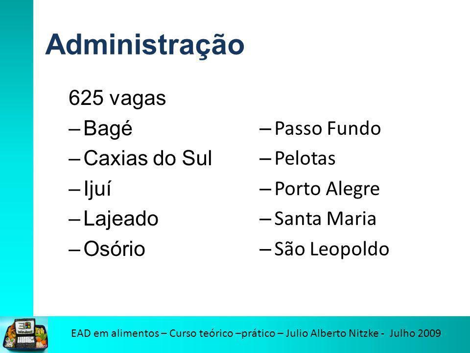 Administração 625 vagas Bagé Caxias do Sul Ijuí Lajeado Osório