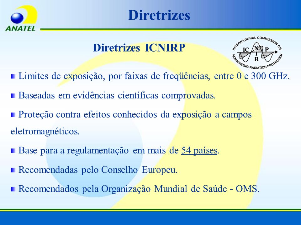 Diretrizes Diretrizes ICNIRP