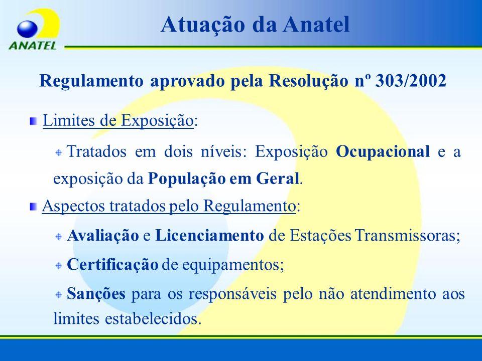 Regulamento aprovado pela Resolução nº 303/2002