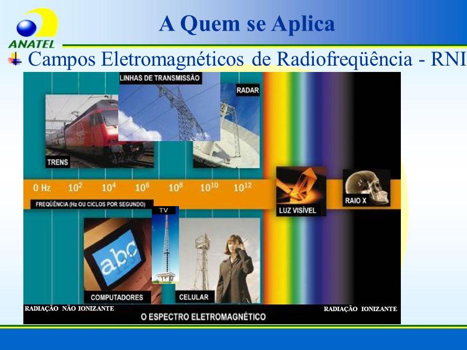 A Quem se Aplica Campos Eletromagnéticos de Radiofreqüência - RNI TV