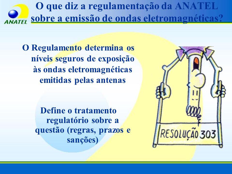 O que diz a regulamentação da ANATEL sobre a emissão de ondas eletromagnéticas