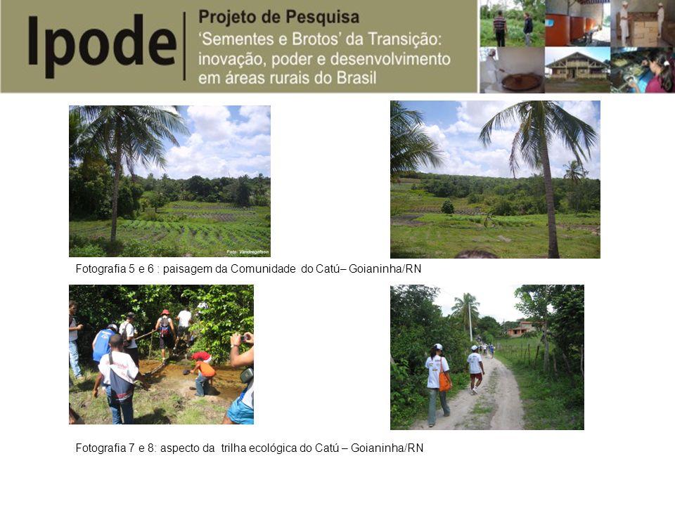 Fotografia 5 e 6 : paisagem da Comunidade do Catú– Goianinha/RN