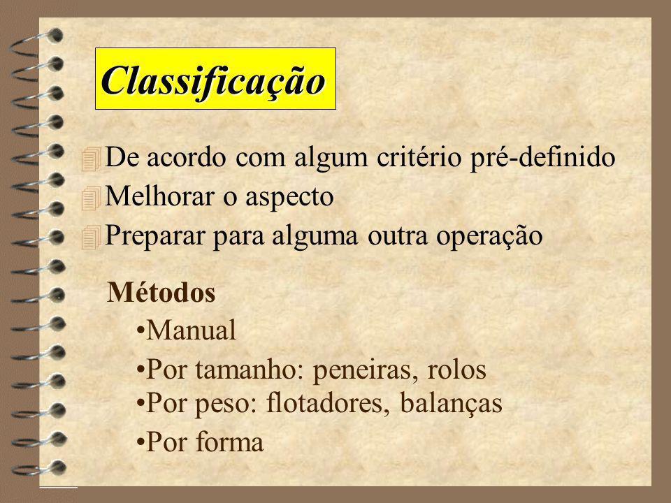 Classificação De acordo com algum critério pré-definido