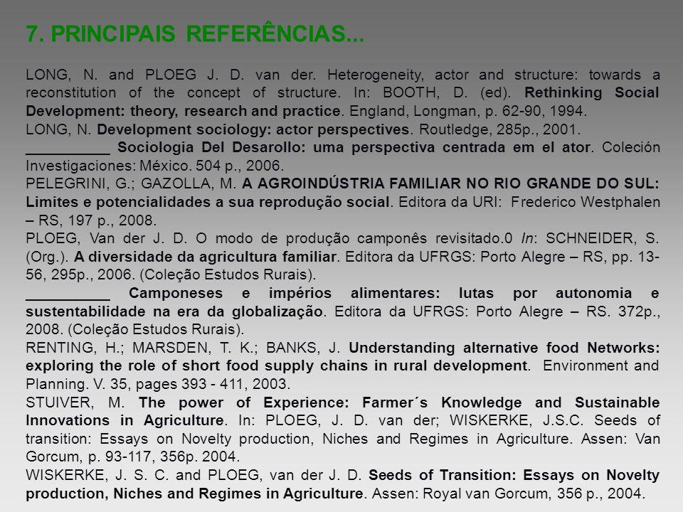 7. PRINCIPAIS REFERÊNCIAS...