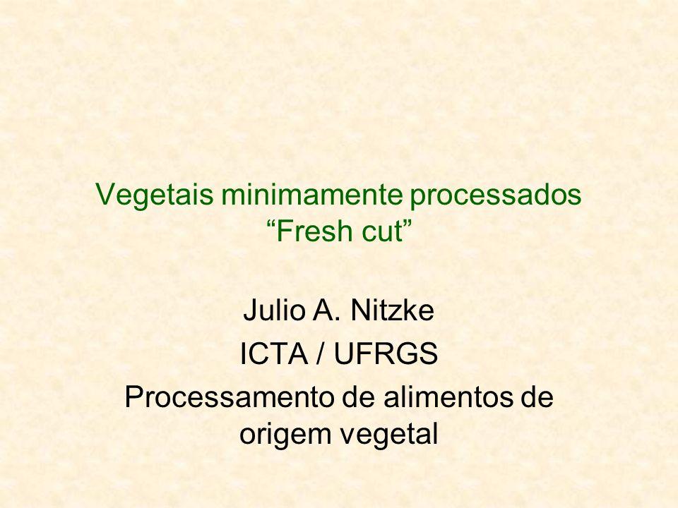 Vegetais minimamente processados Fresh cut