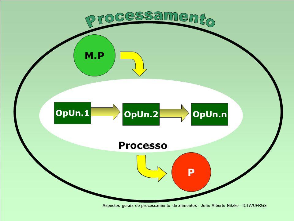 Processamento M.P Processo P OpUn.1 OpUn.2 OpUn.n