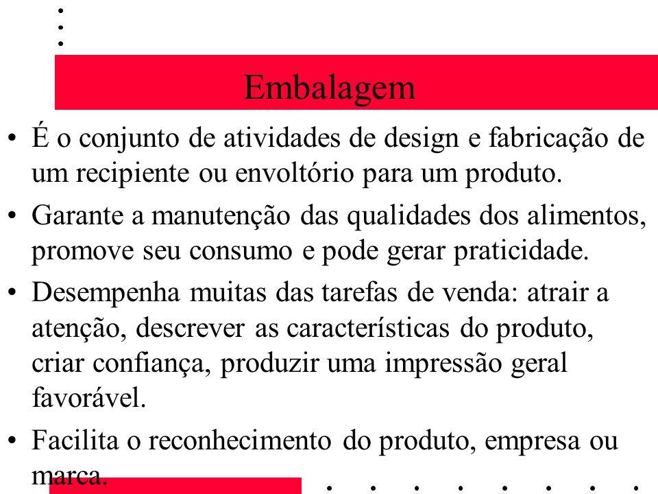 EmbalagemÉ o conjunto de atividades de design e fabricação de um recipiente ou envoltório para um produto.