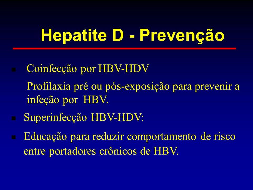 Hepatite D - Prevenção Coinfecção por HBV-HDV