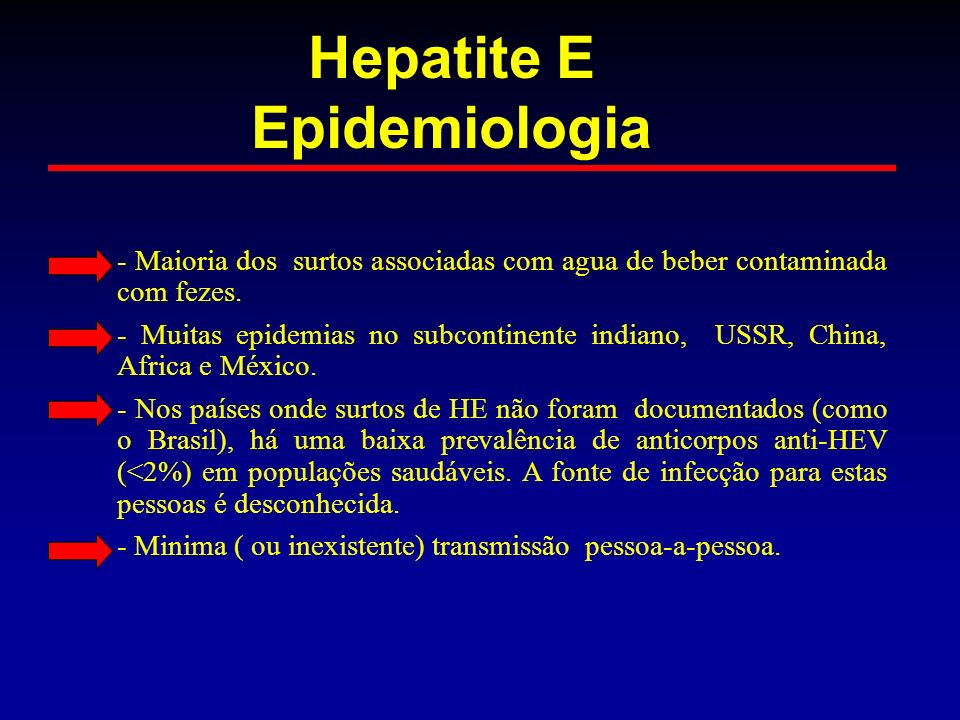 Hepatite E Epidemiologia