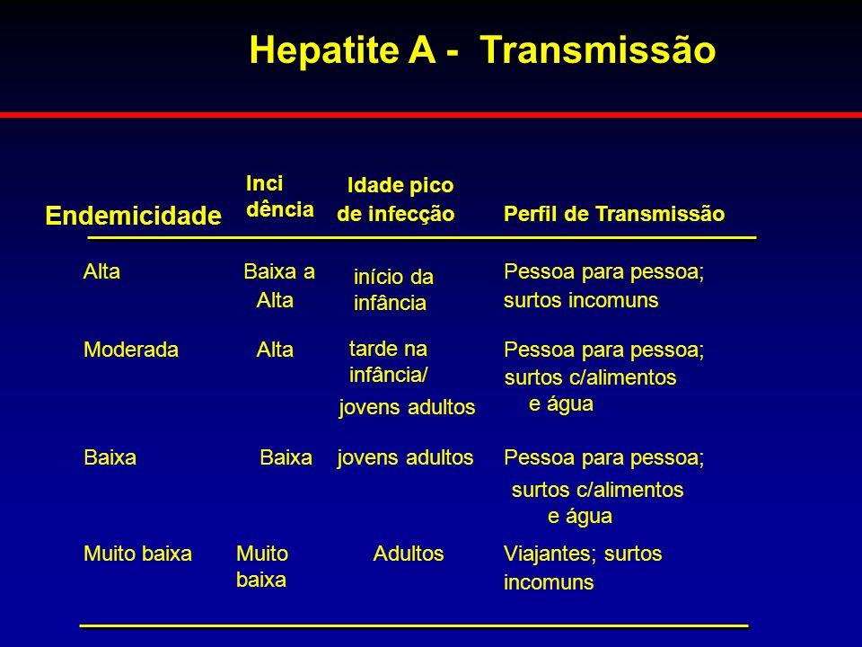 Hepatite A - Transmissão