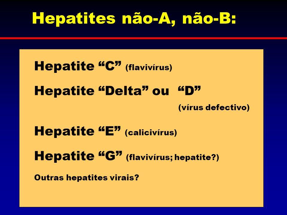 Hepatites não-A, não-B: