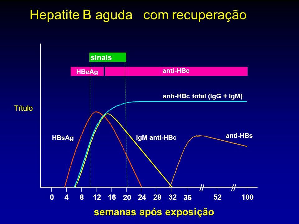 Hepatite B aguda com recuperação